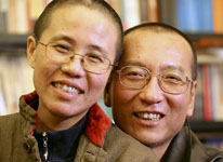 Liu Xiaobo and his wife Liu Xia