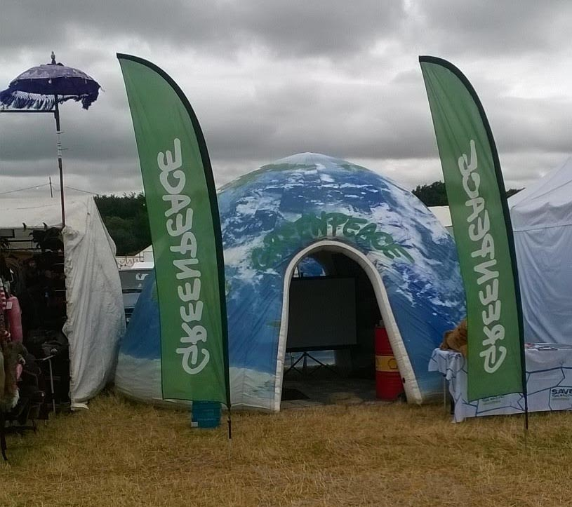 Greenpeace at Larmer Tree