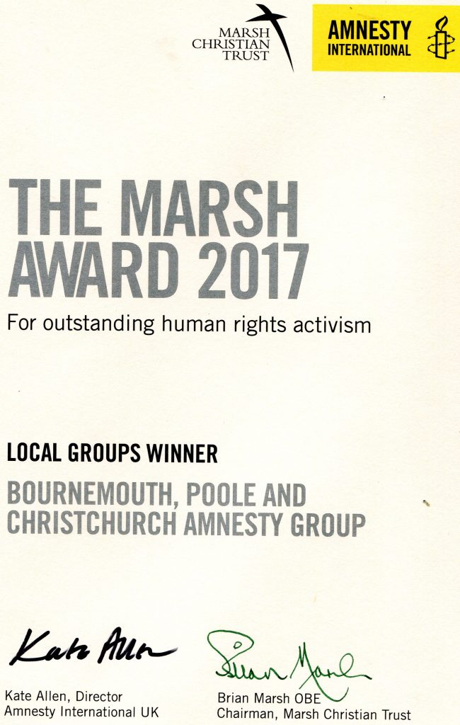 The Marsh Award for Human Rights Activism