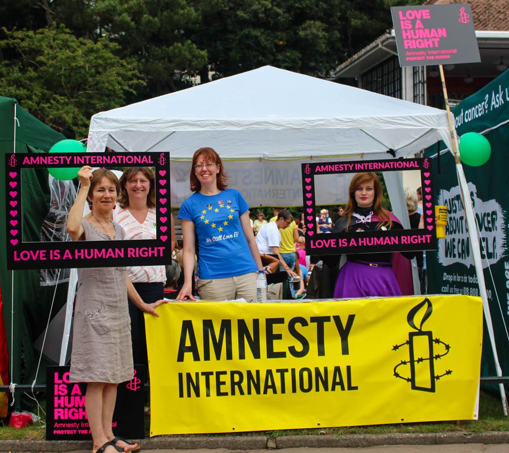 Amnesty International Stall at BourneFree 2017