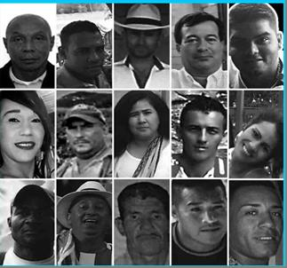 15 of the 51 HR Defenders killed in Colombia between Jan and June 2017